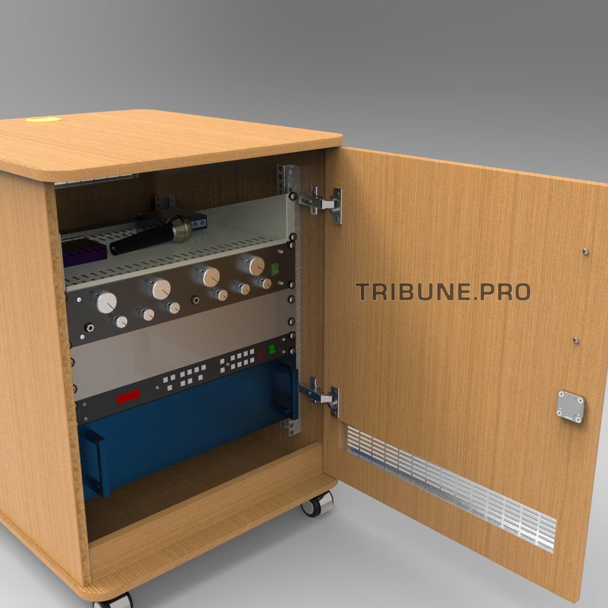 Рэковый шкаф с оборудованием из ДСП